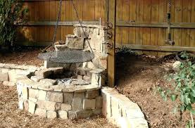 Outdoor Fireplace With Cooking Grill by Diy Outdoor Fire Pit Grill Fireplace Design Ideas Outdoor Fire Pit
