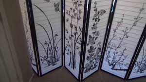 chinese room divider 8 panel bamboo floral room divider review youtube