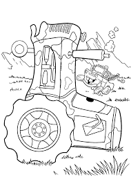 mater and tractor coloring pages for kids printable free