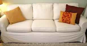 White Sofa Slip Cover by Decoration My Inexpensive Couch Refurbish And Couch Slipcovers