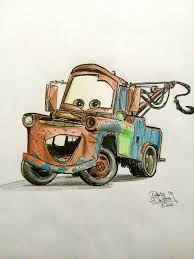 cars characters mater sir tow mater handmade fanart workoncommission disney cars