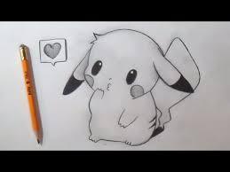 Comment dessiner Pikachu mignon  YouTube