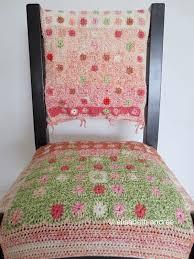 Crochet Armchair Covers Granny Elisabeth Andrée
