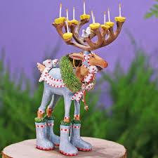 patience brewster dash away mini reindeer ornaments set of 8