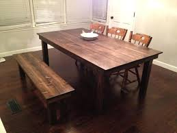 country kitchen table with bench farm dining table with bench kinoed me