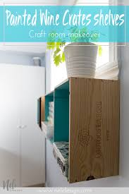 Home Decor Shelf by Wine Crates Floating Shelves One Room Challenge Week 4 Nelidesign