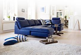 Leather Sofa With Chaise Lounge by Furniture Modern Lounge With Blue Leather Sofa Chaise And Glass