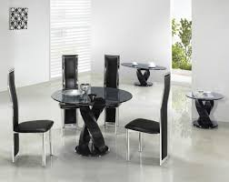 black round dining room table trend black glass dining room table and chairs 88 for modern