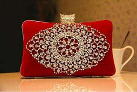 bridal makeup box fashion bridal bags rhinestone designer