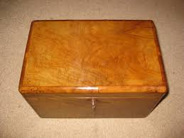 Orange Desk Accessories by Victorian Olive Wood Humidor Trinket Box Dorking Desks
