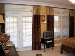 window treatment for double french door with blind and two tone