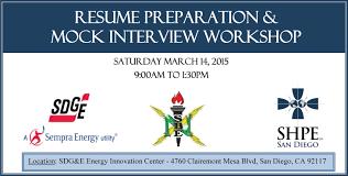E Resume Shpe San Diego Professional Chapter Sdg U0026e Resume Prep U0026 Mock