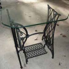 Singer Sewing Machine Desk Antique Singer Sewing Machine Table With Glass Top Dated 1884