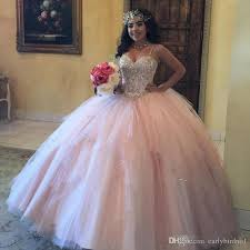 quinceanera dresses with straps 2017 new chic pink gown quinceanera dresses bling sequined