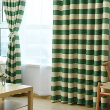 Kitchen Curtain Material by Green Striped Modern Blackout Curtain Fabric Window Curtain Living