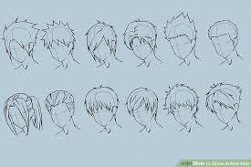 anime hairstyles tutorial 6 ways to draw anime hair wikihow