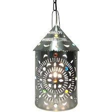 Mexican Pendant Lights Mexican Tin Lighting Collection Merida Lantern W Marbles