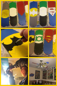 717 best milo s shower and nursery inspiration images on pinterest creating a superhero ceiling fan by painting the fan blades batman bedroombedroom