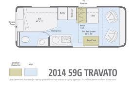 sprinter van conversion floor plans 2014 winnebago travato 59g floorplan jpg 1 600 1 068 pixels van
