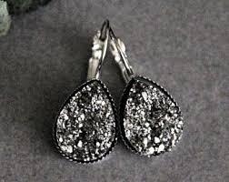 Gunmetal Chandelier Earrings Gunmetal Earrings Etsy