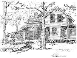 michael garr artwork the conklin house original drawing pen