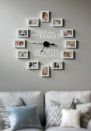 how to create a photo wall clock time spent with family is worth