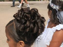 curl up do that i made on my daughter for her first communion