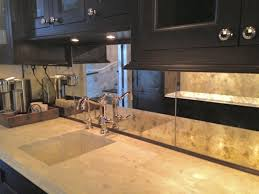 kitchen mirror backsplash antiqued mirror kitchen backsplash kitchen chicago by karesh