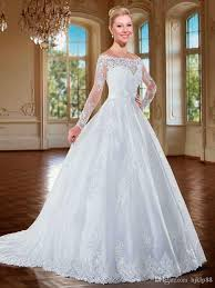 2016 new lace off shoulder long sleeve wedding dresses online with