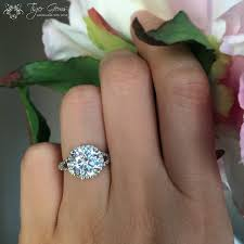 3 carat ring 3 carat split shank halo engagement ring flawless made
