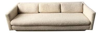 milo baughman vintage textured cream floating sofa chairish