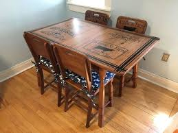 refinished kitchen table u0026 chairs with beautiful stenciling hometalk