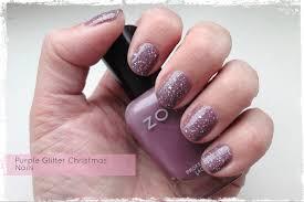 purple glitter christmas nails beauty best friend uk beauty blog