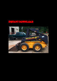 new holland ls160 ls170 skid steer loader service parts catalogue man u2026
