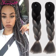 how many packs of expression hair for twists 5 packs 24 100g xpression braiding hair ombre dark gray marley