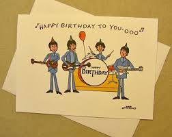beatles birthday etsy