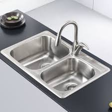 33 x 22 drop in kitchen sink kraus stainless steel 33 x 22 double basin drop in kitchen sink