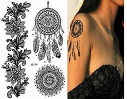 pinkiou henna tattoo stickers lace mehendi temporary tattoos for