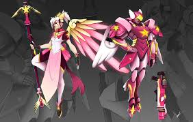 how to make halloween mercy desktop background the 6 fan art skins these overwatch heroes deserve