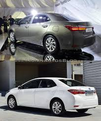 toyota new model car 2016 toyota corolla facelift vs older model old vs new