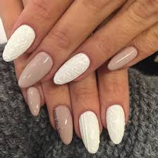 cable knit sweater nail art trend perfect for winter fashionisers