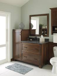 Cherry Bathroom Storage Cabinet by This Decora Treyburn Cherry Bathroom Vanity Balances Both