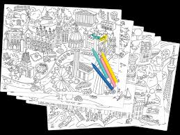 coloring placemats omy coloring placemats citymap orange mayonnaise