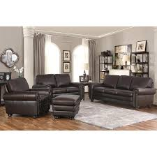 leather living room broderick 4 piece top grain leather living room set