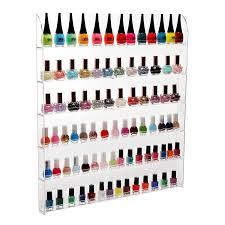 amazon com 102 bottles 6 shelf pro clear acrylic nail polish