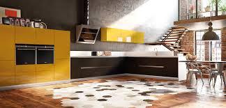 cuisine jaune et grise cuisine laquée cuisine grise et jaune plan de travail quartz