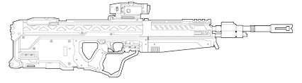 drawn gun halo pencil color drawn gun halo