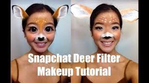 Bambi Halloween Makeup by Snapchat Deer Halloween Makeup Tutorial Ashlyn Mark Youtube