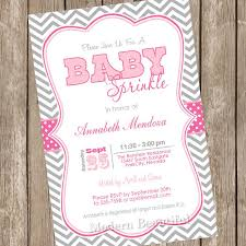 sprinkle baby shower girl sprinkle baby shower invitation pink and grey chevron