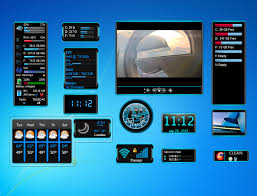 gadget de bureau windows 8 blue gadgets set widget for windows 7 http win7gadgets com pc